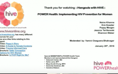 POWER Health: Implementing HIV Prevention for Women